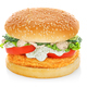 Hamburger with chicken isolated - PhotoDune Item for Sale