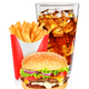 Hamburger cola and french fries - PhotoDune Item for Sale