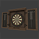 Dartboard Cabinet and Darts - 3DOcean Item for Sale