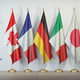 G7 summit or meeting concept. Row from flags of members of G7 gr - PhotoDune Item for Sale