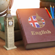 Studying and learn English concept. Book with flag of Great Brit - PhotoDune Item for Sale