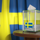 Ballot box with flag of Sweden and voting papers. Swedish presid - PhotoDune Item for Sale
