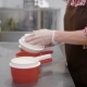 Plant Worker Shaping Fresh Cheese Curd Using Plastic Forming Sieve - VideoHive Item for Sale