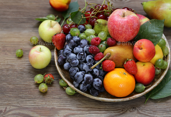 Different Berries and Fruits - Stock Photo - Images