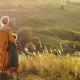 Mother with Child Stand at the Mountain Valley - VideoHive Item for Sale
