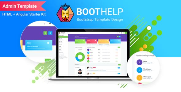 BootHelp | Bootstrap Admin Dashboard HTML  PSD  Angular Starter kit