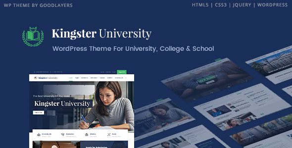 Kingster - Education WordPress Theme For University, College and School - Education WordPress
