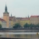 View on Prague From Shore of Vltava in Cloudy Summer Day - VideoHive Item for Sale