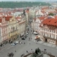 Top View of Old Town Square and Small Street in Prague From Old Clock Tower - VideoHive Item for Sale