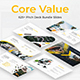Core Value Pitch Deck Bundle 3 in 1 Google Slide Template