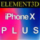 Element3D - iPhone X Plus - 3DOcean Item for Sale