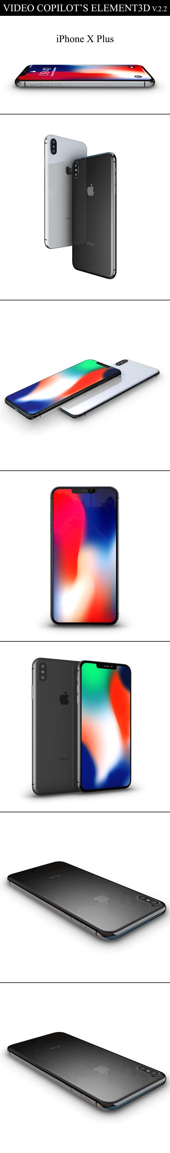 Element3D - iPhone X Plus - 3DOcean Item for Sale