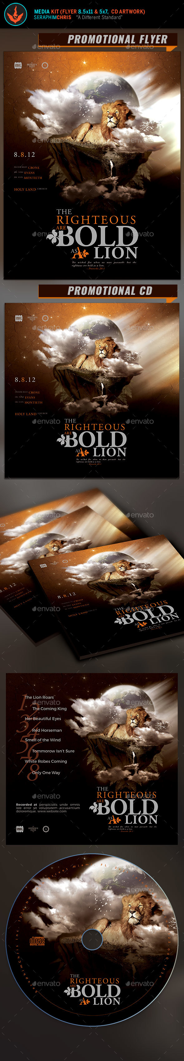 The Righteous Full Page Flyer and CD Artwork Template - Church Flyers
