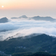 the sea of clouds on mountain village in sunrise, China - PhotoDune Item for Sale