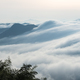 beautiful clouds waterfalls poured down from the top of the mountain - PhotoDune Item for Sale