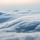 spectacular waterfall clouds closeup , flowing clouds on mountains in early morning - PhotoDune Item for Sale