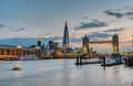 The skyline of London after sunset - PhotoDune Item for Sale