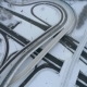Aerial View of a Freeway Intersection Snow-covered in Winter - VideoHive Item for Sale