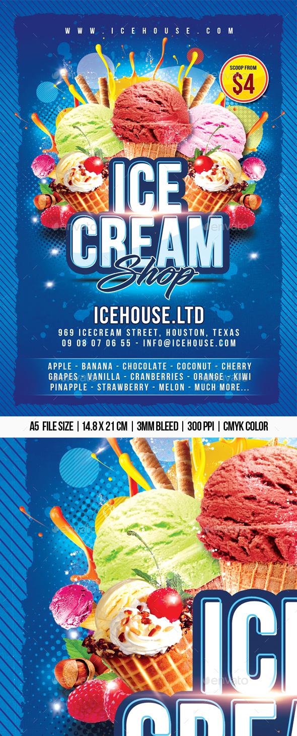 Ice-cream Shop - Restaurant Flyers