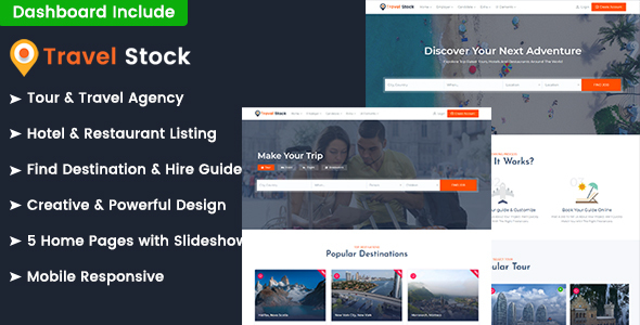 Travel Stock - Creative Tour & Travel Agency Template - Travel Retail