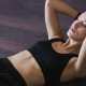 Sporty Woman Doing Abdominal Crunches on Floor - VideoHive Item for Sale