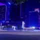 Night City in Illumination and Traffic on the Road - VideoHive Item for Sale