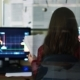 Financial Worker Checking Stock Market Data. Woman Working with Financial Diagrams in Office. World - VideoHive Item for Sale