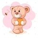 Teddy Bear with a Keg of Honey - GraphicRiver Item for Sale