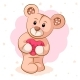 Teddy Bear with Pink Heart - GraphicRiver Item for Sale