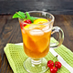 Lemonade cherry and orange in wineglass on dark board - PhotoDune Item for Sale