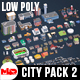 Low Poly City Pack v2.0 - 3DOcean Item for Sale