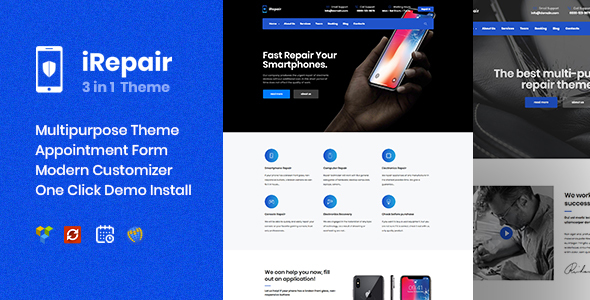 iRepair - Mobile Phone Repair, Electronics, Laptop Repair - Retail WordPress