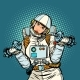Woman Astronaut with Dumbbells - GraphicRiver Item for Sale