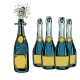 Bottle of Champagne Celebration Holiday Greetings - GraphicRiver Item for Sale
