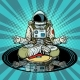 Music for Meditation and Yoga Astronaut Meditates - GraphicRiver Item for Sale