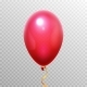 Realistic 3D Red Balloon