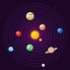 Solar System Cartoon Sun and Planets
