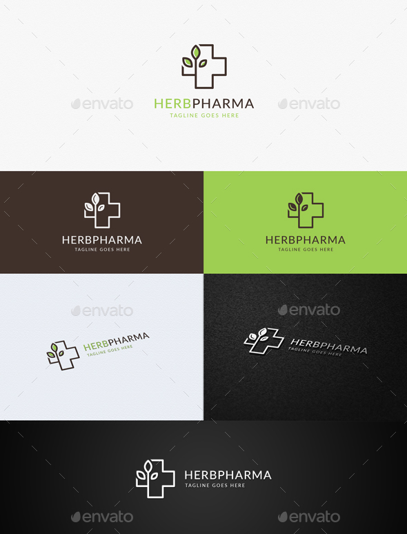 Herbal Pharmacy - Symbols Logo Templates