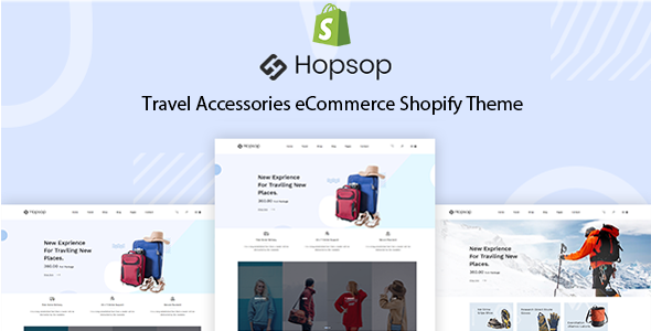 Hopsop - Travel Accessories eCommerce Shopify Theme + Dropshipping - Entertainment Shopify