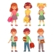 Primary School Kids - GraphicRiver Item for Sale