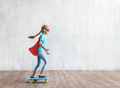 Little hero with a skatboard in the studio - PhotoDune Item for Sale