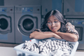 Young woman in laundry - PhotoDune Item for Sale