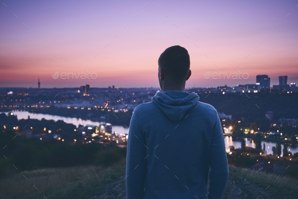 Contemplation at the sunrise - Stock Photo - Images