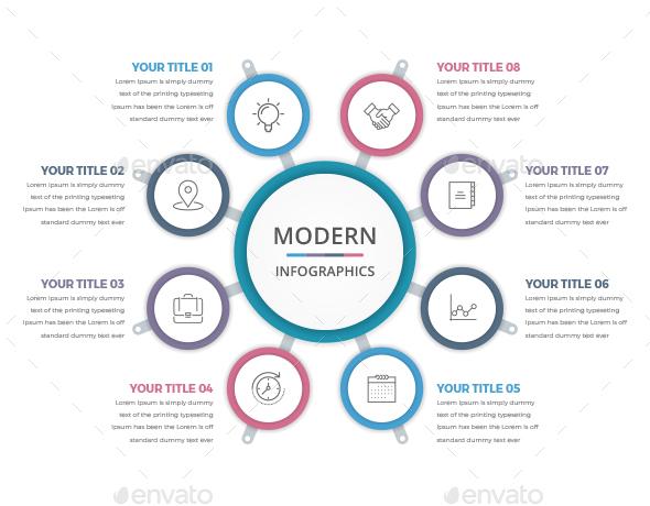 Simple Modern Circle Infographics - Infographics