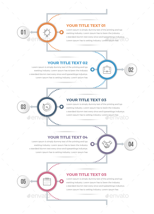 Modern Vertical Circle Infographics - Infographics