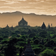 Dark moody sunset with ancient temples in Bagan, Myanmar - PhotoDune Item for Sale