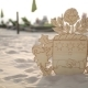 The Coat of Arms of Latvia From Plywood on the Beach Wedding Decorations for the Bride Bijouterie - VideoHive Item for Sale