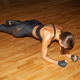 young hispanic athletic sportswoman doing plank - PhotoDune Item for Sale