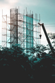 Steel bridge construction with scaffolding and framework - PhotoDune Item for Sale