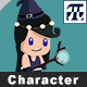 Game Character Set 6 - Female Mage